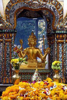 The Erawan Shrine in Bangkok, Thailand