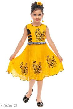 Checkout this latest Frocks & Dresses Product Name: *Trendy Cotton Kid's Girl's Frock* Fabric: Cotton Sleeve Length: Sleeveless Pattern: Printed Multipack: Single Sizes: 1-2 Years, 2-3 Years, 3-4 Years Country of Origin: India Easy Returns Available In Case Of Any Issue   Catalog Rating: ★4 (433)  Catalog Name: Little Princess Trendy Cotton Kid's Girl's Frocks Vol 1 CatalogID_486121 C62-SC1141 Code: 452-3490174-465