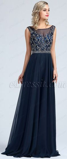 67ca186792 Sleeveless Blue Beaded Prom Formal Dress  eDressit Light Blue Dresses