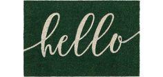 Lábtörlő Hello - zöld, modern, textil (40/60cm) - MÖMAX modern living