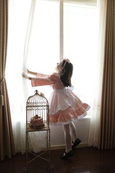 エプロンドレス アリスコレクション 女の子  子供服フォーマル ワンピースピーチピンク 子どもドレス 子供ドレス キャサリンコテージ dress alice pink