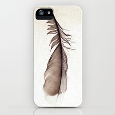 iPhone 5 Cell Phone Case - Woodland Feather Photo - Ephemeral