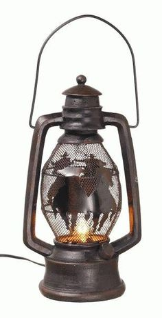 Cowboy Lantern. Plug this cowboy lantern in for a rustic addition to your decor! Available at Frontier Western Shop - www.westernshop.com