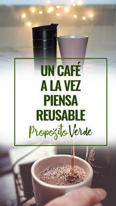 Marca la diferencia, un café a la vez | Piensa Reusable. Cuando los consumidores usan una taza de café reutilizable, evitan la deforestación, reducen los vertederos de residuos, reducen las emisiones de dióxido de carbono y reducen su huella ecológica. How To Become Vegan, Vegan Baby, Good Sources Of Protein, Minimalist Living, Diy Cleaning Products, Nutritious Meals, Zero Waste, Vitamins, Vegan Recipes