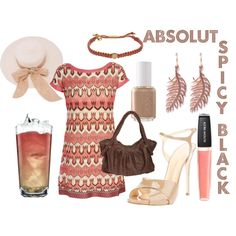 Absolut Spicy Black  (drink inspired fashion)