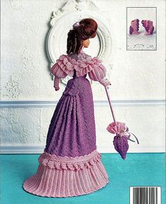 1903 Promenade Dress Crochet Collector Costume Volume 5 Fashion Doll  Crochet Pattern.