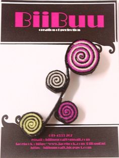 Tringle Swirl Brooch design 2