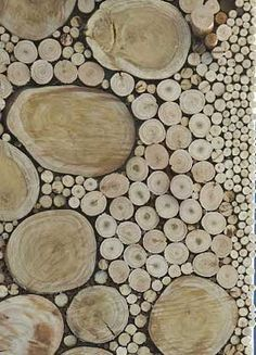 wall of wood rounds - Wood Designs For Walls
