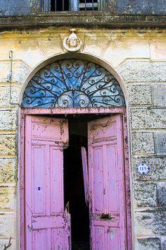 Just a Pink Door in Montevideo, Uruguay