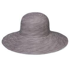 23387bf8fcf wallaroo Women s Petite Scrunchie Sun Hat - UPF 50+ - Crushable -  Grey White Dots - CN12O3XC66C