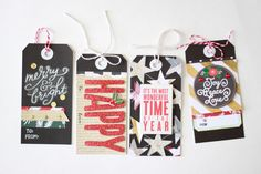 me & my BIG ideas and Hobby Lobby have partnered together with this post on these DIY Holiday Gift Tags using the supplies below that Design Team member Heather Adams found at Hobby Lobby. Festive holiday gift tags are a great way to add pizzazz to those last minute gifts and give a personal touch to a plainly wrapped present. 'Jingle All The Way' SOFT SPOKEN™ holiday stickers | me & my BIG ideas 'All That Glitters' 12x12 mambiSHEETS holiday paper pad 'Joy, Peace, & Love' SOFT SPOKEN™…