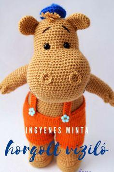 Amigurumi Minta, Amigurumi Patterns, Crochet Patterns, Bravissimo, Hippopotamus, Tweety, Crochet Hats, Teddy Bear, Toys