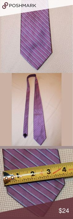"""Brooks Brother's 346 Purple Striped Silk Tie Brooks Brother's """"346"""" Purple Striped Pure Silk Men's Classic Tie   58 inches long. 3.5 inches wide.   Smoke free home. Brooks Brothers Accessories Ties"""
