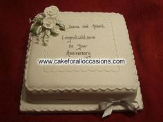 Cake A006 :: Anniversary Cakes :: Cakes for Celebrations :: Cake Library - Cake for all Occasions