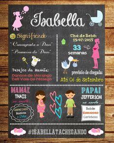 Chalkboard Chá de bebê