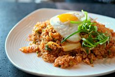 The kimchi fried rice at Watercress is a delicious spin on the classic dish.