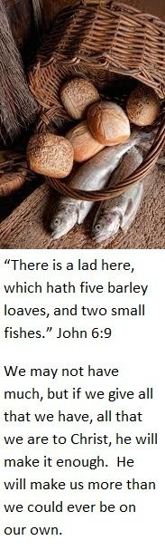 The Miracle Of Loaves And Fishes John 69