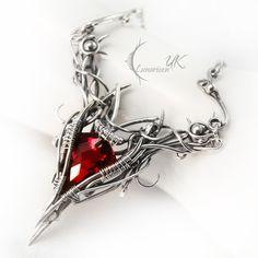 RAGHTRAT  - silver , red quartz , garnet by LUNARIEEN.deviantart.com on @DeviantArt