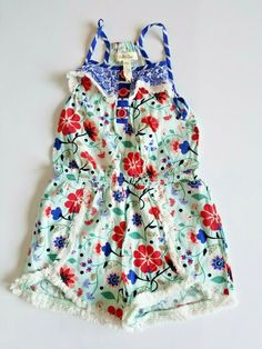 184186c0fa1 Matilda Jane Romper Girls 4 Tug of War One Piece Floral Fringe Adventure  Begins  MatildaJane