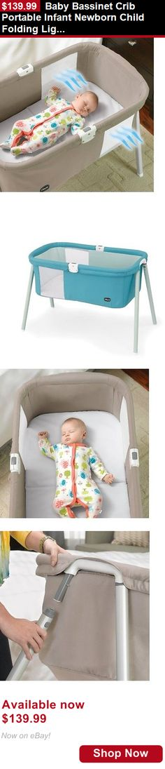 Baby Co-Sleepers: Baby Bassinet Crib Portable Infant Newborn Child Folding Lightheight Furniture BUY IT NOW ONLY: $139.99