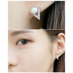 Buy Miss21 Korea Faux-Pearl V-Shape Stud Earrings at YesStyle.com! Quality products at remarkable prices. FREE WORLDWIDE SHIPPING on orders over US$35.