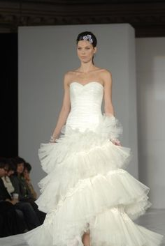 ruffled wedding dress kenya
