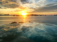 Sunrise from Hilltop Infinity Pool http://www.sixsenses.com/resorts/yao-noi/experiences