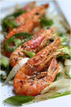 vietnames, salt pepper, peppers, tom rang, salt and pepper shrimp