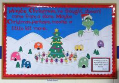 Dr. Seuss Grinch Christmas bulletin board - updated