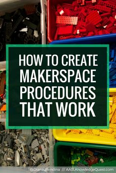 How to Create Makerspace Procedures that Work Finding the best way to get your students to learn procedures can be tricky. Check out these tips on how to create makerspace procedures that will work. Maker Labs, Innovation Lab, Elementary Library, Preschool Library, Preschool Bulletin, Upper Elementary, Teacher Librarian, Library Lessons, Library Ideas