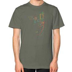 City Grid Unisex T-Shirt (on man)