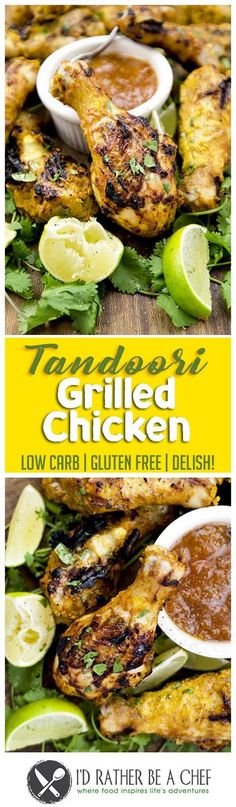 These light and delicious Tandoori chicken thighs are one of the easiest recipes you'll ever make. They're not baked or fried; but instead, I threw them in the marinade and watched them sizzling as they grilled. The result was finger licking good! A healthy and tasty low carb dinner for the whole family!