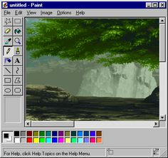 nature waterfall paint windows 95 trending on via Windows 95, Aesthetic Gif, Aesthetic Wallpapers, Vaporwave Art, Most Beautiful Wallpaper, Old Computers, Glitch Art, View Image, Pixel Art