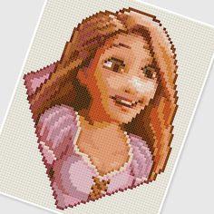 PDF Cross Stitch pattern 0283.Rapunzel (Princess) by PDFcrossstitch