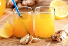 orange lemon ginger juice