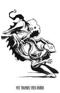 any means necessary shawn coss inktober illness ptsd post traumatic stress disorder Creepy Drawings, Dark Art Drawings, Creepy Art, Dark Art Illustrations, Art And Illustration, Arte Horror, Horror Art, Mental Health Art, Mental Health Tattoos