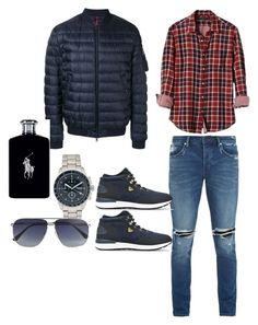 """zull"" by alyssazanna on Polyvore featuring Banana Republic, Neuw, Emporio Armani, Moncler, FOSSIL, Ralph Lauren, Tom Ford, men's fashion y menswear"