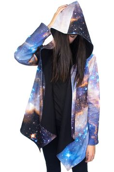 Sagan Galaxy Hoodie from Shadowplaynyc  | Galaxy Print Clothing incredible reversible