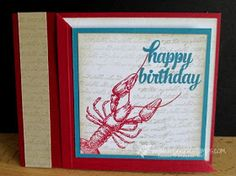 Stamp & Scrap with Frenchie: Diagonal Corner Fold Live stamping tonight