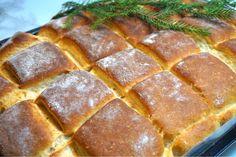 Dinkeltekakor i långpanna Banana Bread, Food And Drink, Desserts, Bakken, Tailgate Desserts, Deserts, Dessert, Food Deserts
