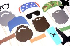 FREE Photo Booth Sign With Purchase - Printable Duck Dynasty Deluxe Prop Set - Set of 23 Photo Booth Props