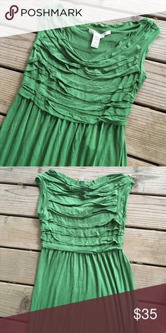 Green Max Studio Maxi Dress Beautiful Max Studio dress for spring and summer! So much lovely detail on the top. Made of a nice lightweight fabric. VGUC! Max Studio Dresses Maxi