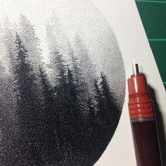 Amazing piece of pointillism by Tyler Hays.
