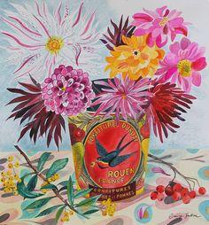 Emily Sutton, watercolour, YSP, flowers, nature, painting, illustration, colour