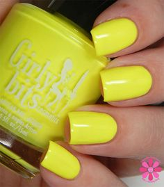 Girly Bits - These Hips Don't Lie. A neon yellow creme from the 'Hoop! There It Is' collection, available April 19th 2015 www.girlybitscosmetics.com