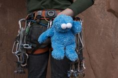 Something You Should Know About My Cookie Monster Chalk Bag - Adventure Journal Climbing Chalk Bag, Climbing Wall, Rock Climbing, Dog Treat Bag, Bouldering Wall, Activities For Boys, Love Clothing, Diy Stuffed Animals, Mini Bag