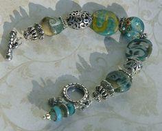 Blue Ridge Handmade Beaded Bracelet Bali by bdzzledbeadedjewelry Kazuri Beads, Handmade Beaded Jewelry, African Beads, Colorful Bracelets, Lampwork Beads, Jewelry Making, Beaded Bracelets, Pearls, Blue Ridge