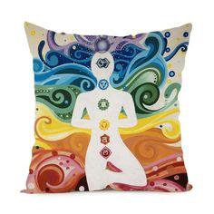 Chakras Satin Pillow Cases