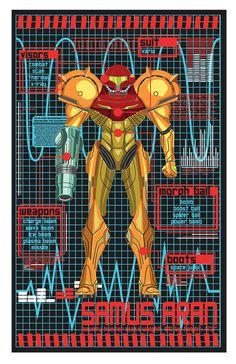 Samus Aran Created by Sam Cook #Samus #Nintendo