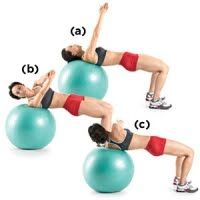 Swiss Ball Russian Twist- for those with a bad back